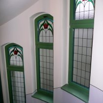 Holzfenster mit Iso Bleiverglasung