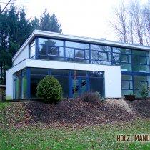 Holzfensterfronten Architektenhaus